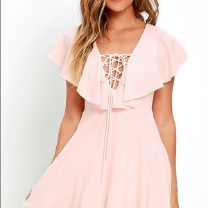 Lulus blush pink dress